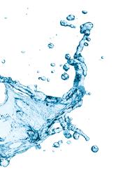splash d'eau de l'espace aquatique